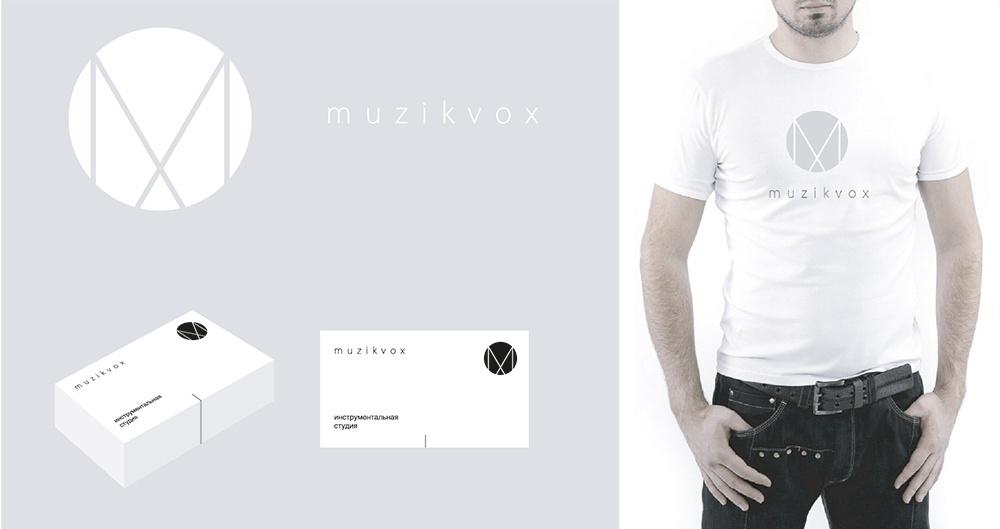 Логотип и знак музыкально-инструментальной школы Muzikvox, 2015 г.