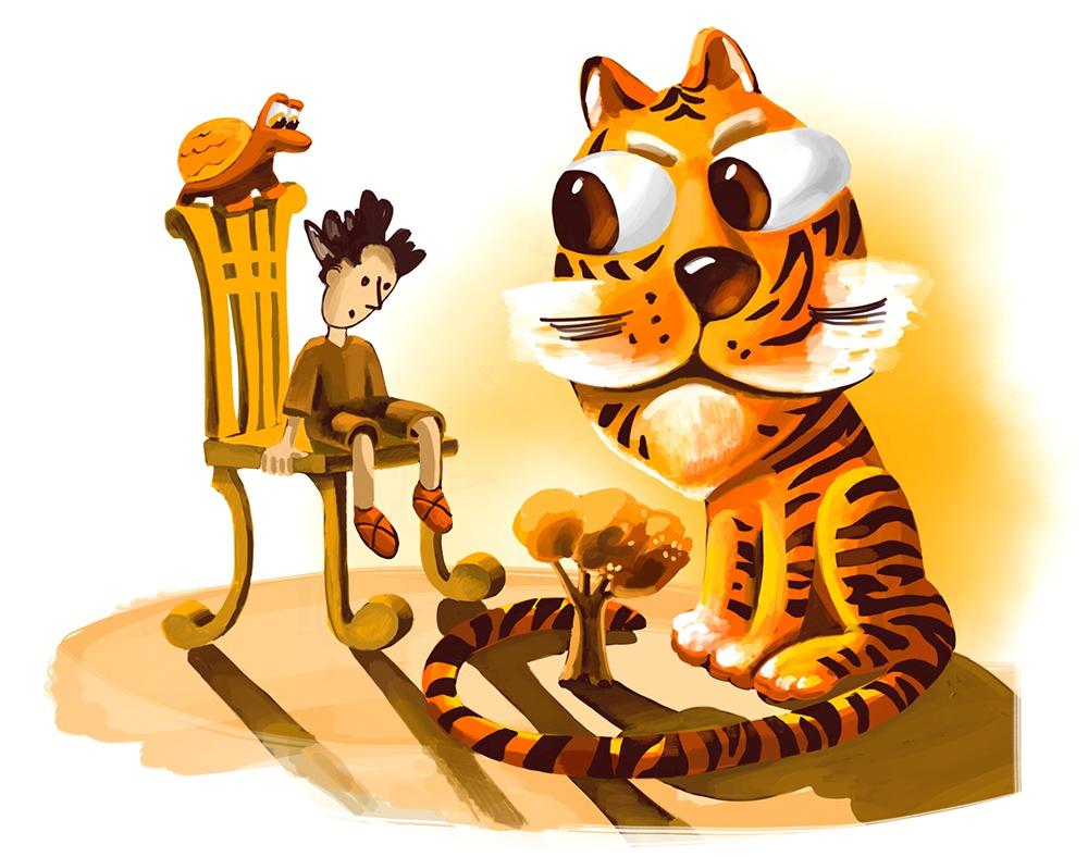 К сказке «Золотой тигр»