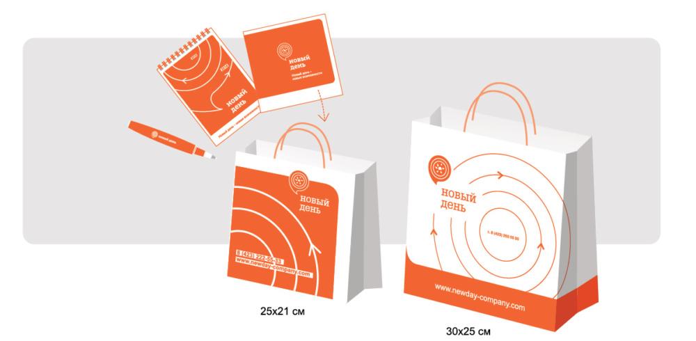 Пример брендирования сувенирной продукции